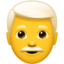 man Emoji on Apple, iOS