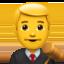 man judge Emoji on Apple, iOS