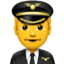 man pilot Emoji on Apple, iOS