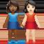 women holding hands Emoji on Apple, iOS