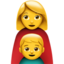 family: woman, boy Emoji on Apple, iOS