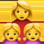 family: woman, girl, girl Emoji on Apple, iOS