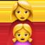 family: woman, girl Emoji on Apple, iOS