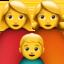 family: woman, woman, boy Emoji on Apple, iOS