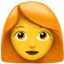 woman Emoji on Apple, iOS