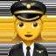 woman pilot Emoji on Apple, iOS