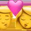 kiss: woman, man Emoji on Apple, iOS