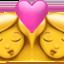 kiss: woman, woman Emoji on Apple, iOS
