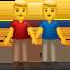 men holding hands Emoji on Apple, iOS