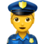 woman police officer Emoji on Apple, iOS