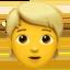 person: blond hair Emoji on Apple, iOS