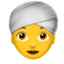 woman wearing turban Emoji on Apple, iOS