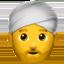 man wearing turban Emoji on Apple, iOS