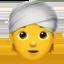 person wearing turban Emoji on Apple, iOS