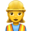 woman construction worker Emoji on Apple, iOS