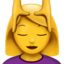 woman getting massage Emoji on Apple, iOS