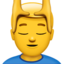 man getting massage Emoji on Apple, iOS