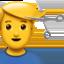 man getting haircut Emoji on Apple, iOS