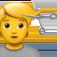 woman getting massage Emoji on Apple, iOS