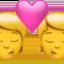 kiss Emoji on Apple, iOS