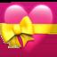 heart with ribbon Emoji on Apple, iOS