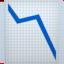 chart decreasing Emoji on Apple, iOS