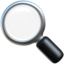 magnifying glass tilted left Emoji on Apple, iOS