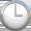 three o'clock Emoji on Apple, iOS