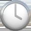 four o'clock Emoji on Apple, iOS