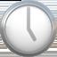 five o'clock Emoji on Apple, iOS