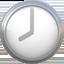 eight o'clock Emoji on Apple, iOS