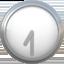 seven-thirty Emoji on Apple, iOS