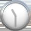 eleven-thirty Emoji on Apple, iOS