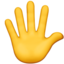 hand with fingers splayed Emoji on Apple, iOS