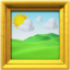 framed picture Emoji on Apple, iOS