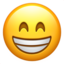 beaming face with smiling eyes Emoji on Apple, iOS