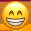 Emoji de cara feliz y sonriente en Apple, iOS