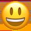 grinning face with big eyes Emoji on Apple, iOS