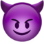 smiling face with horns Emoji on Apple, iOS