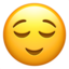 relieved face Emoji on Apple, iOS