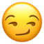 smirking face Emoji on Apple, iOS