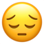 pensive face Emoji on Apple, iOS