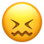 confounded face Emoji on Apple, iOS