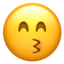 kissing face with smiling eyes Emoji on Apple, iOS