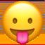 Emoji de cara sacando la lengua en Apple, iOS