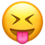 squinting face with tongue Emoji on Apple, iOS