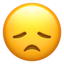 disappointed face Emoji on Apple, iOS