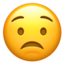 worried face Emoji on Apple, iOS