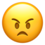angry face Emoji on Apple, iOS