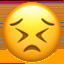 persevering face Emoji on Apple, iOS